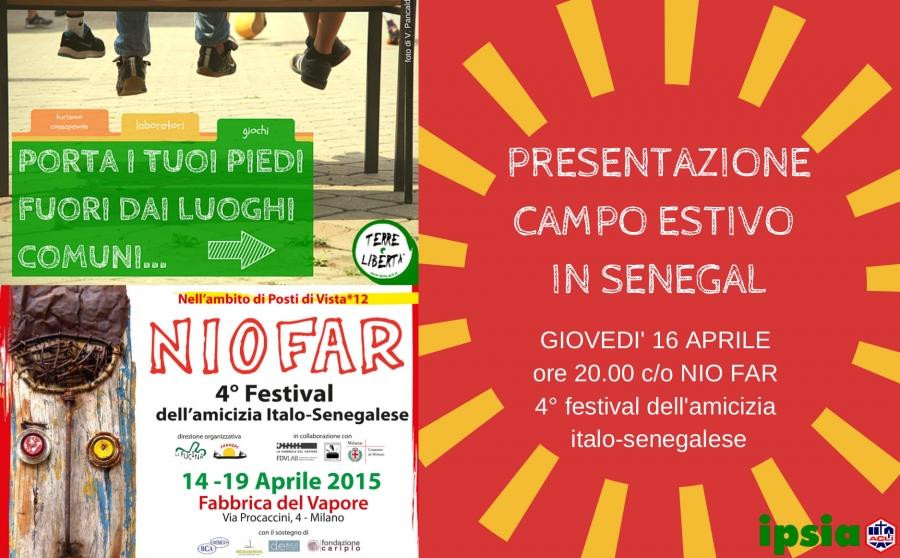Presentazione campo di volontariato estivo in Senegal