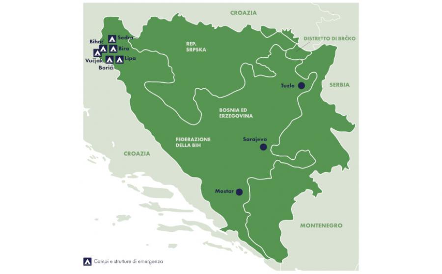 Le attività con i migranti in Bosnia Erzegovina: report 2018-2021